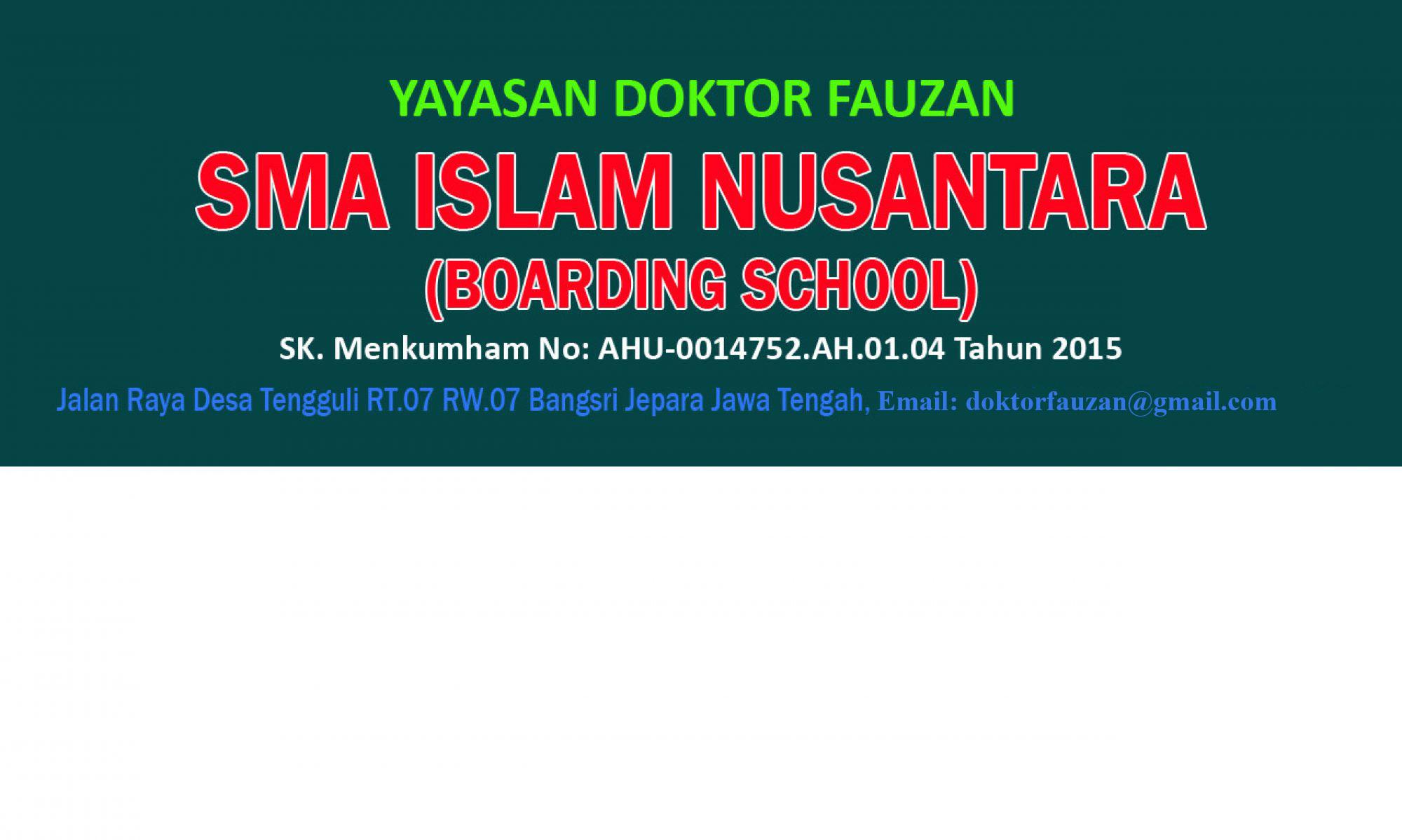 SMA ISLAM NUSANTARA YAYASAN DOKTOR FAUZAN